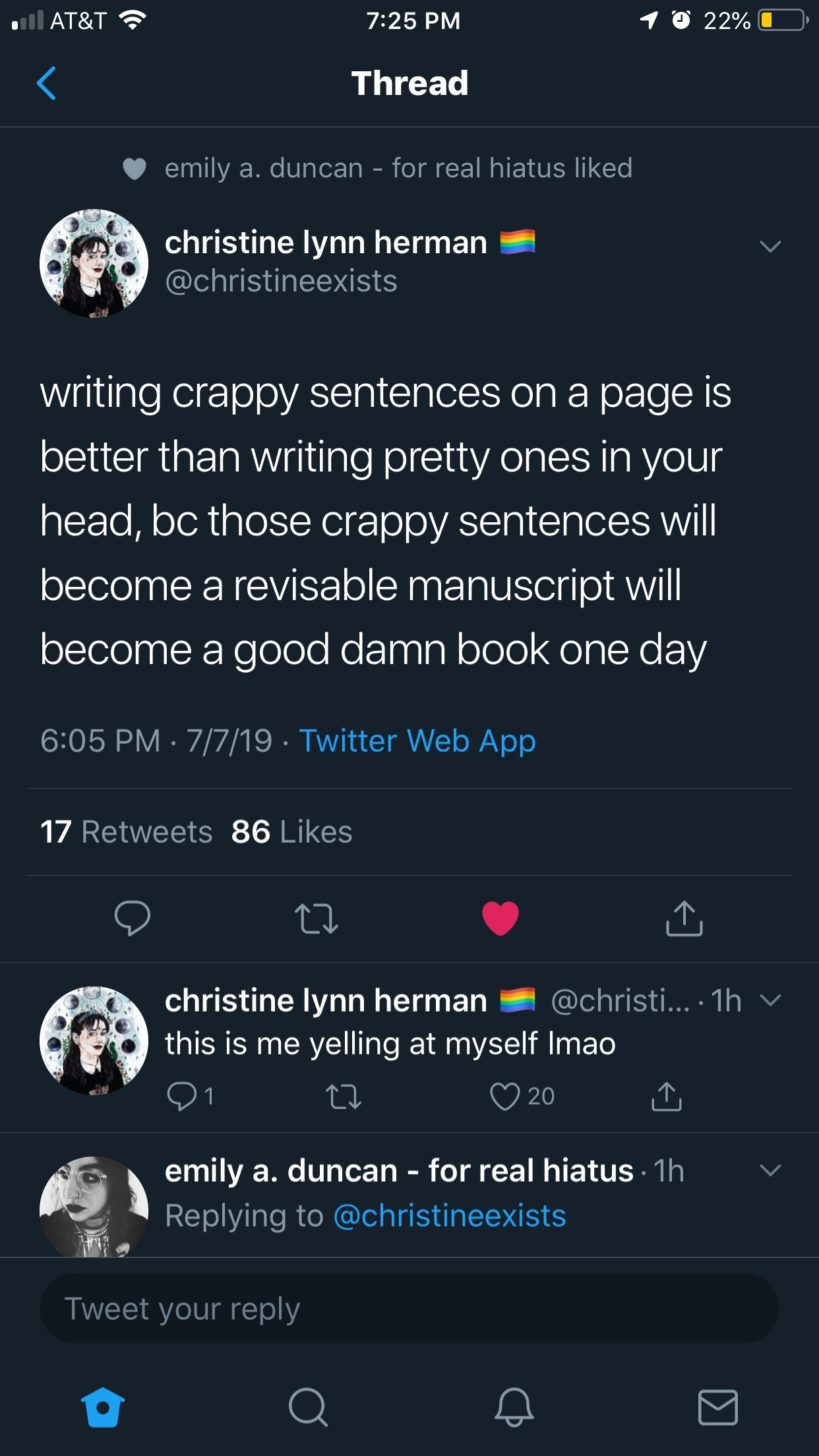 Christine Lynn Herman Tweet